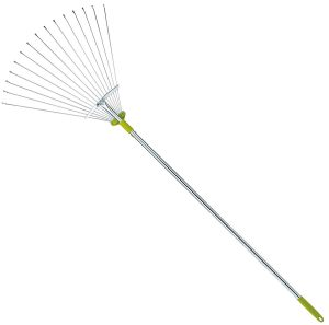 63 Inch Adjustable Garden Lawn Rake