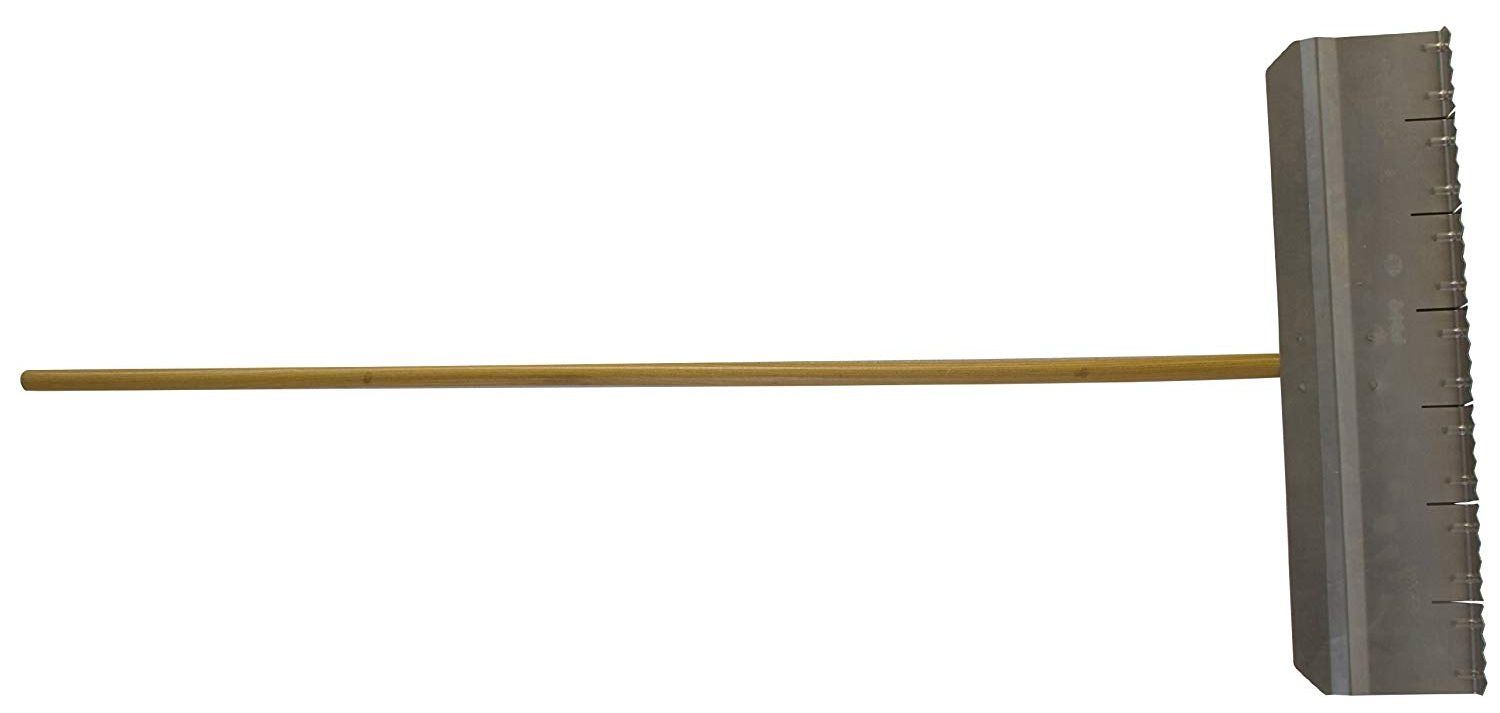 Flexrake LAR123 24-Inch Pine Needle Rake with 54-Inch Wood Handle