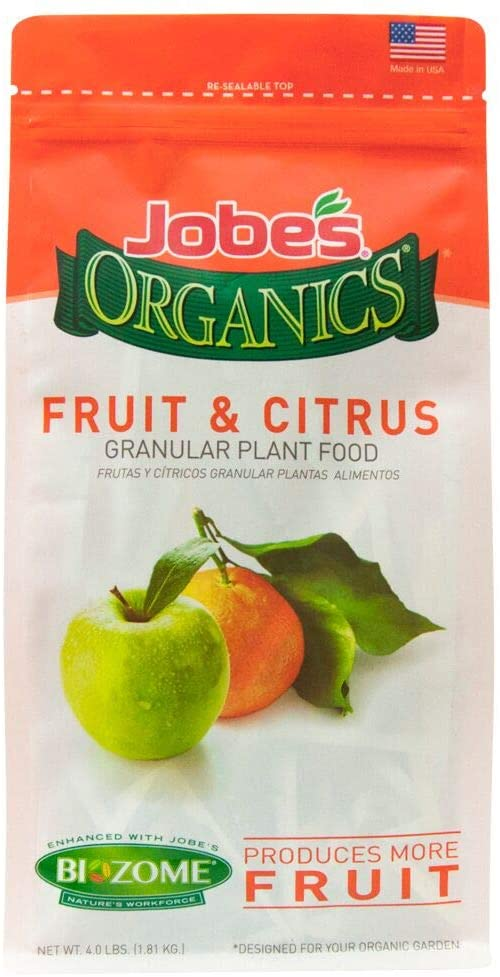 Jobe's Organics 09226 Fruit & Citrus Fertilizer with Biozome
