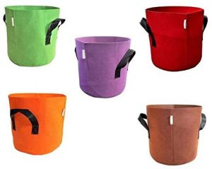 Grow Bags 7 Gallon, Variety 10 Pack, Colored Fabric Pot for Peppers