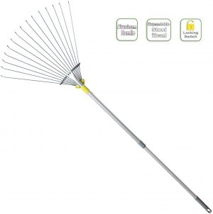Jardineer Adjustable Garden Leaf Rake for rocks