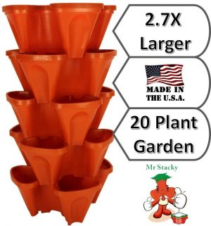 Large Vertical Gardening Stackable Planters for Strawberries